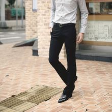 Novo 2017 Masculino magro calça Casual homens Calças Moda Terno Slim Fit Marca Blazer calças de estilo ocidental Em Linha Reta calças de Negócios(China (Mainland))