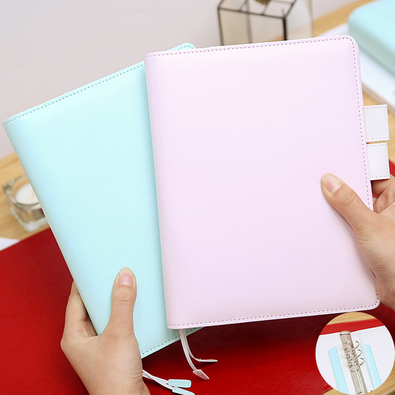 Yiwi A5 PU leather Cute Pink Blue Creative Hobo Notebook With Spiral Ring Planner Book Diary Filofax Planner Agenda Organizer sketchbook diary agenda planner organizer planner spiral notebook a5 planner binder address book notebook filofax exercise book