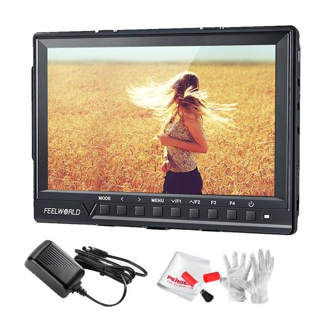 Feelworld FW760 Full HD 1920x1200 7 дюймов Видео Камеры IPS Подал Монитор HDMI Пиковый Focus Assist 1200:1 Контрастность + Адаптер питания