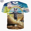 Mr'1991 nueva juventud 3D lindo super poderes gato de la historieta de la camiseta para los niños muchachas de la manera 3D t shirt niños grandes 11-20 años camiseta A8