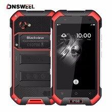 Blackview BV6000 4 г смартфон IP Водонепроницаемый 4.7 дюйма MT6755 Octa core android 7.0 мобильный телефон 3 ГБ + 32 ГБ 13MP Cam GPS сотовый телефон