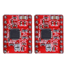 2Pcs/Lot A4988 Stepper Motor Driver Module with Radiator for 3D Printer Polulu StepStick RepRap for 3D Printer kit Red