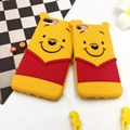 Phone Case For Apple iPhone 6 6s 7 7Plus Case Cute 3D Cartoon Winnie the Pooh Case Soft Silicon Cover Couque For iPhone 6 Souple