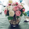 (10heads/bunch)  New.Silk / Simulation / Artificial flower Camellia Romantic,pink Wedding/Bridal bouquet.