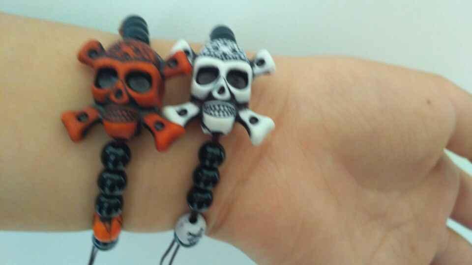 Подарки на Хэллоуин пиратский браслет из черепов Покемон Хэллоуин украшения детская ручная цепочка подарок на день рождения амулет