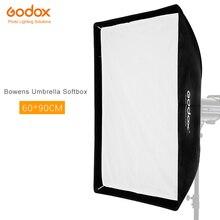 Godox 60x90 cm Rettangolare Portatile Ombrello Softbox SB UE 60x90 cm/24 * 35 con Bowens Mount per Flash da Studio DE300