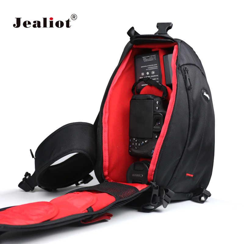 546965a8ca27 Jealiot SLR Triangle Camera Bag case Travel Shoulder bag Waterproof photo  foto lens DSLR Digital Camera