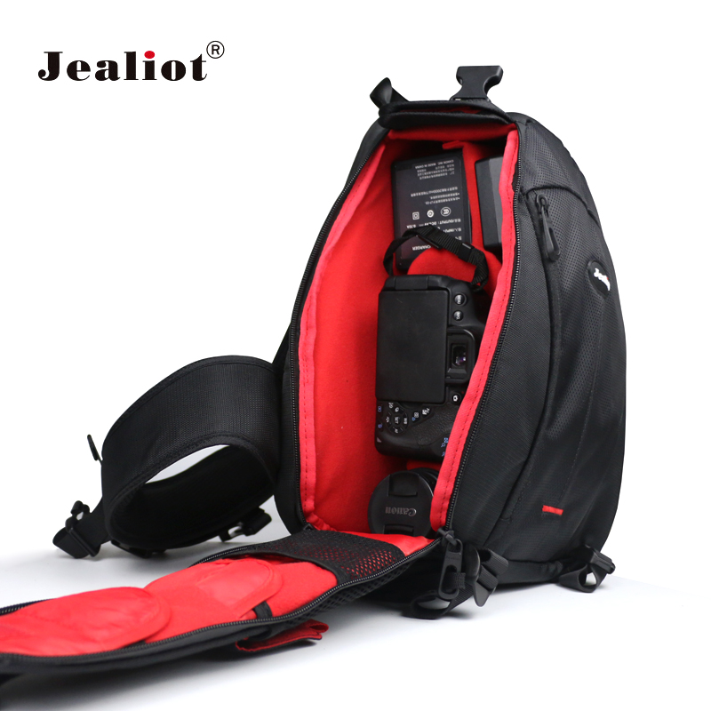 Jealiot Waterproof Camera Bag Travel Small DSLR Shoulder bag Digital Camera Rain Cover Triangle Sling Bag for Sony Nikon Canon lowepro protactic 450 aw backpack rain professional slr for two cameras bag shoulder camera bag dslr 15 inch laptop