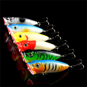 Image 3 - Señuelos de Pesca mezcla de 4 modelos, 21 unidades, cebo Popper Artificial, aparejos de pesca Wobbler de plástico, venta al por mayor