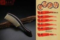 Wholesale Angle Dumpling Natural Ebony Ebony Wood Comb Upscale Boutique Horn Comb Ebony Angle Wooden Comb