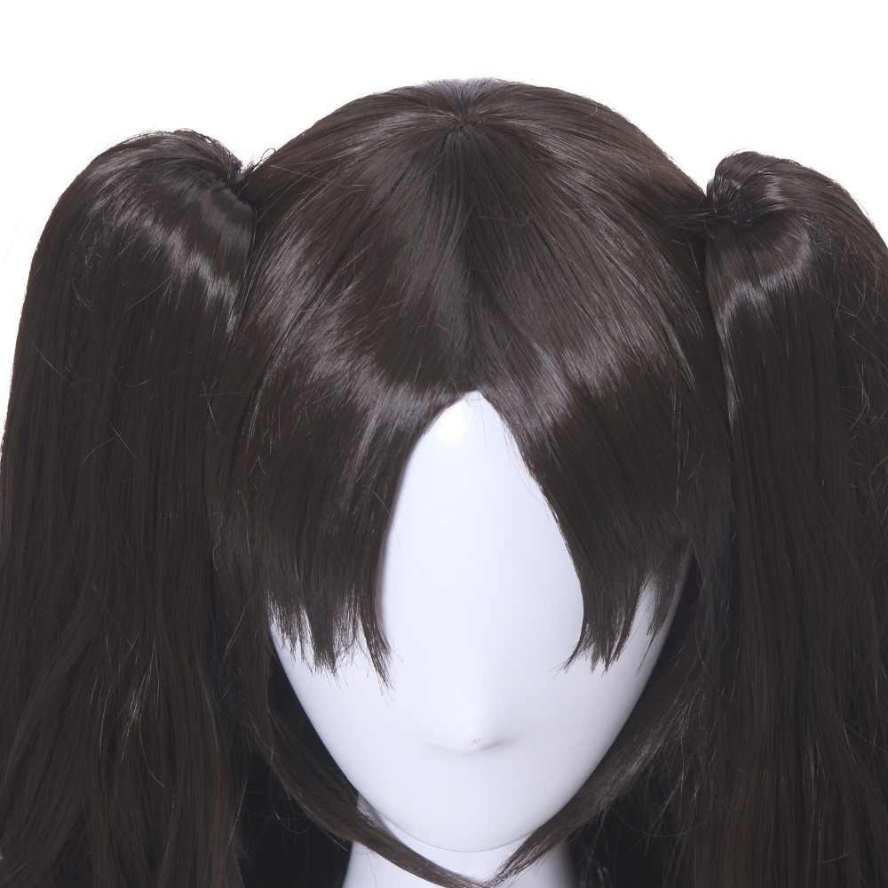 L-email парик игра Fate/Stay Night Рин тосака Косплей парики длинные волнистые термостойкие синтетические волосы Perucas Косплей парик