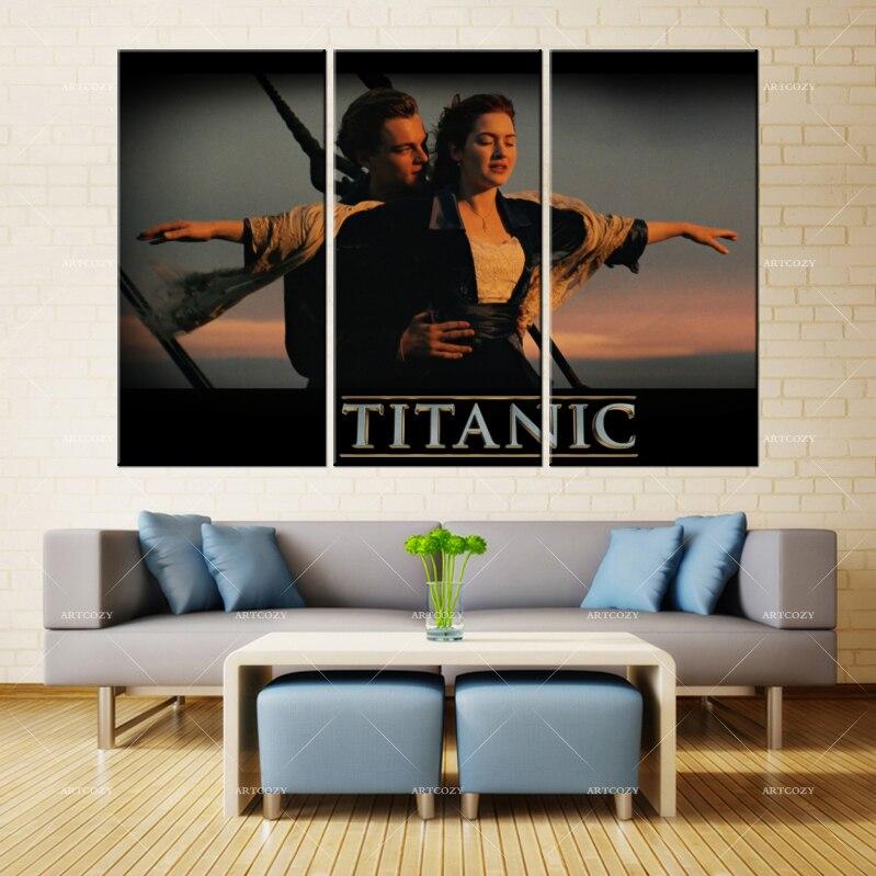 Aliexpress.com : Buy Artcozy Canvas Painting Wall Art RMS Titanic ...