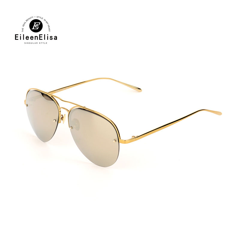 2017 Hot Special Designer Sunglasses Women EE Brand Oculos Oversize Sun Glasses Metal Frame High Quality Colorful Sunglasses