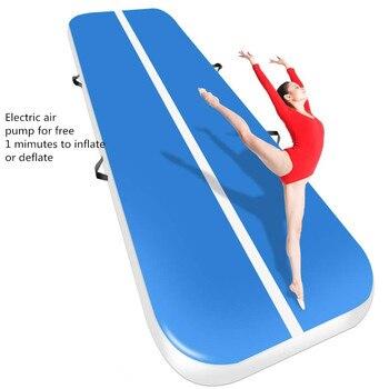 Бесплатная доставка, надувной гимнастический матрас, 3 м, 4 м, 5 м, надувной гимнастический матрас, надувной мат для взрослых или детей