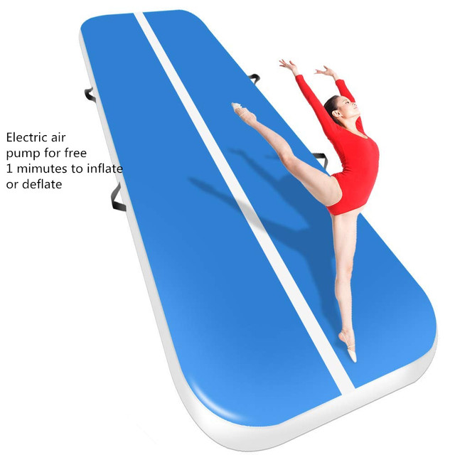 Free Shipping 3m 4m 5m  Inflatable  Gymnastics Mattress Gym Tumble Air track Floor Tumbling Air Track mat For  Adults or Child