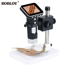 Buy BOBLOV Portable Handheld 500X USB Digital Mobile Microscope 2.5″ TFT 8LED Adjustable Video Camera TF Card Recorder With Stand