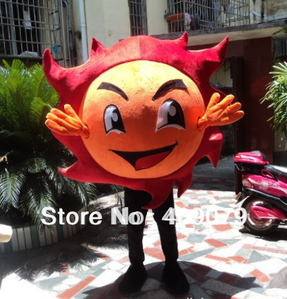 adult fireball mascot costume fire costume for adult