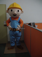 High quality Fancytrader Bob the builder Mascot Costume Character Costume Cartoon Costume Free Shipping FT20032