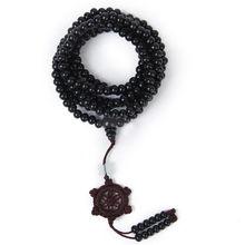 1 個 6 ミリメートル天然白檀仏教仏瞑想ブレスレット 216 ビーズ木の数珠ビーズマラブレスレット女性男性ジュエリー