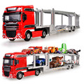 1:50 KAIDIWEI Diecast Metal Transport Truck Alloy Model Toy Car Transporter Cars Dinky Toys For Children Boys Gift Brinquedos