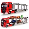 KAIDIWEI 1:50 Diecast Metal Coche de Juguete de Aleación Modelo de Camión de Transporte Transporter Coches Dinky Brinquedos Juguetes Para Niños Regalo de Los Niños