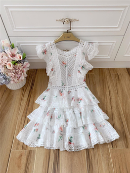 2020 Elegant Printed Mini Dress with Ruffles 4