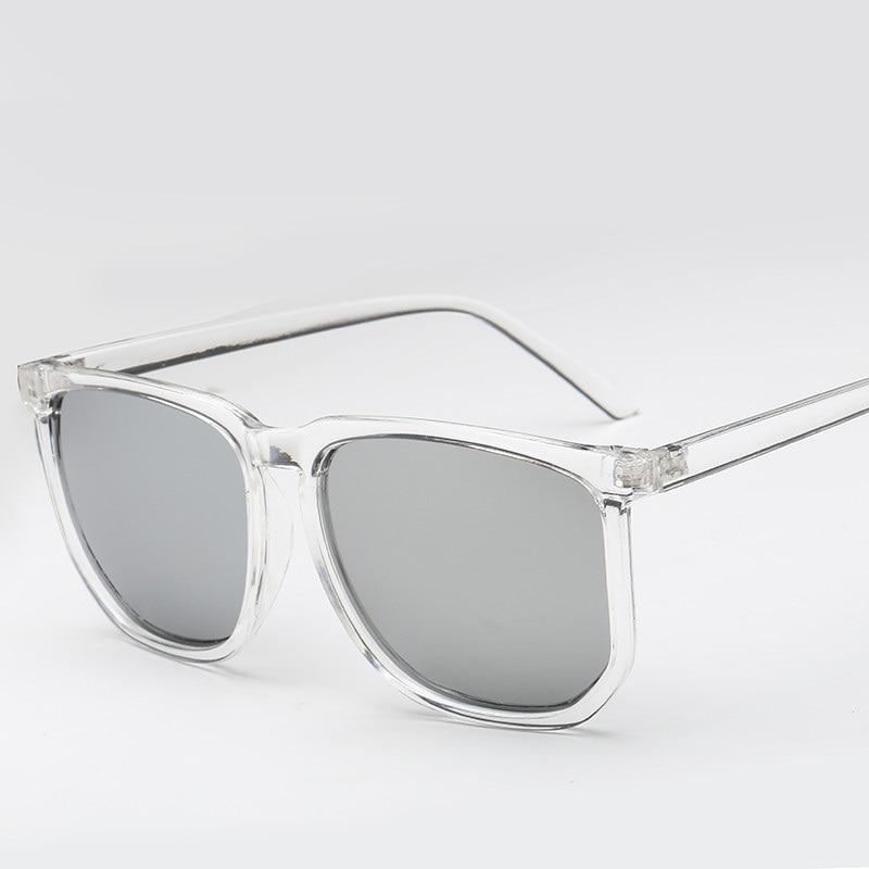 Vazrobe شفافة النظارات الشمسية الرجال النساء إطار واضح نظارات الشمس لرجل الموضة الجدة للرجل الهيب هوب ساحة حزب بارد