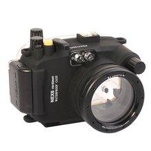 Meikon 40M Waterproof Underwater Camera Housing Case Bag for Sony NEX-6 16-50mm Lens Camera meike waterproof diving camera case for sony nex5 slr digital camera blue 40m underwater