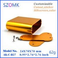 1ชิ้น, 24*70*70มิลลิเมตรszomkขายร้อนpcbทองตู้อลูมิเนียมสำหรับอุปกรณ์อิเล็กทรอนิกส์เครื่องขยาย
