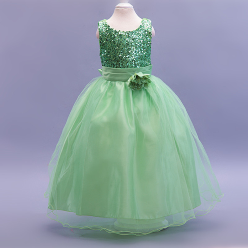 Kid girl Clothes Princess Party Dresses For Girl Infant Costume New Flowers Dress For Wedding Party 10 different colorLP-55
