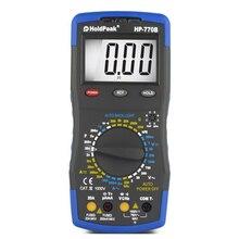 1 шт. хольдпик мультиметр HP-770B Высокая Точность Вольтметр Амперметр Ом тестер измерения ручной Точный практичный цифровой проверки