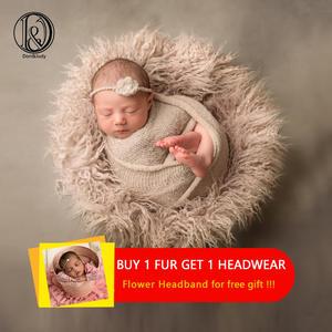 Fur Blankets Background Photography-Props Fotografia Faux-Fur Newborn Baby Infant Cute