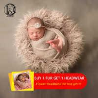 D & j newborn fotografia adereços macio cobertores de pele do bebê do falso cobertores de fundo bonito infantil crianças foto do bebê