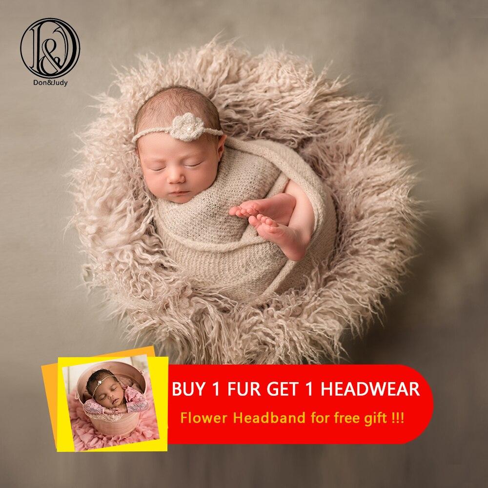 d j newborn fotografia aderecos macio cobertores de pele do bebe do falso cobertores de fundo