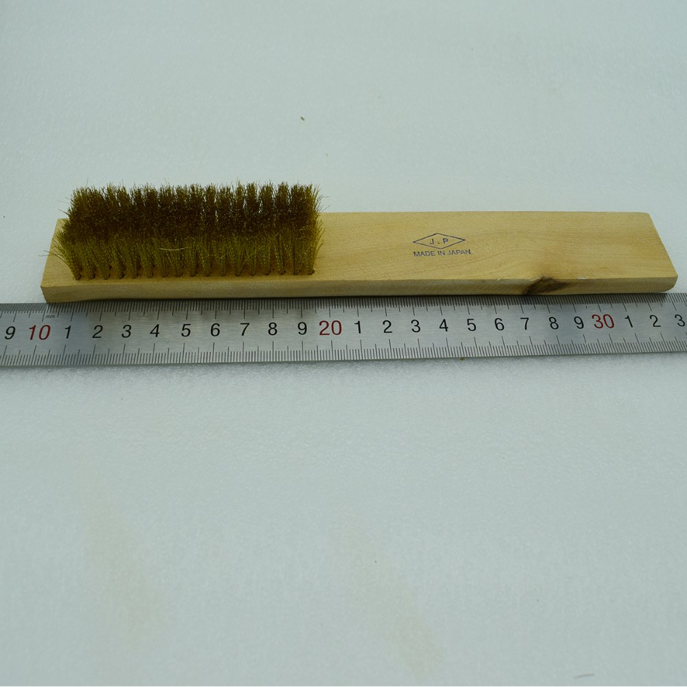 Brass Copper Bronze Wire Brush 8 rows Burnishing Polishing Deburring ...