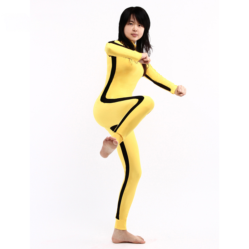 Ainclu Customize for adults and kids New Zentai Suit Yellow Lycra Spandex Unisex Bodysuit For Halloween