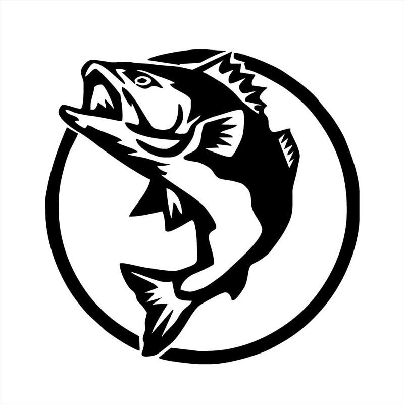 16*16CM Funny Fish Fishing Car Bumper Stickers Fashion Personality Body Decoration Accessories C6-0953 игрушка bradex funny fish de 0077 orange