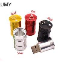 USB flash drive pen drive GB 8 4GB GB 32 16GB 64GB frasco de óleo mini memory stick cano de metal stick usb real capacidade pendrive