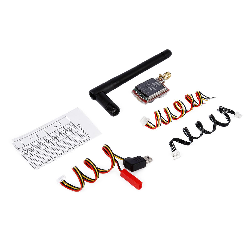 RC Airplane RC Drone TX360 5.8G 600mW 40Ch Wireless AV Transmitter 5V for FPV Aerial Photography Remote Control Parts & Accs fx797t 5 8g 25mw 40 channel av transmitter with 600 tvl camera soft antenna for indoor fpv racing drone