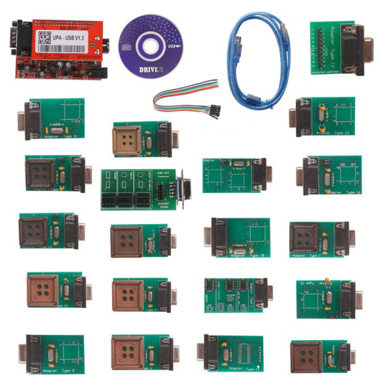УПА USB программист с полной Адаптеры V1.3 ЭКЮ Чип Tunning с NEC Функция Бесплатная доставка