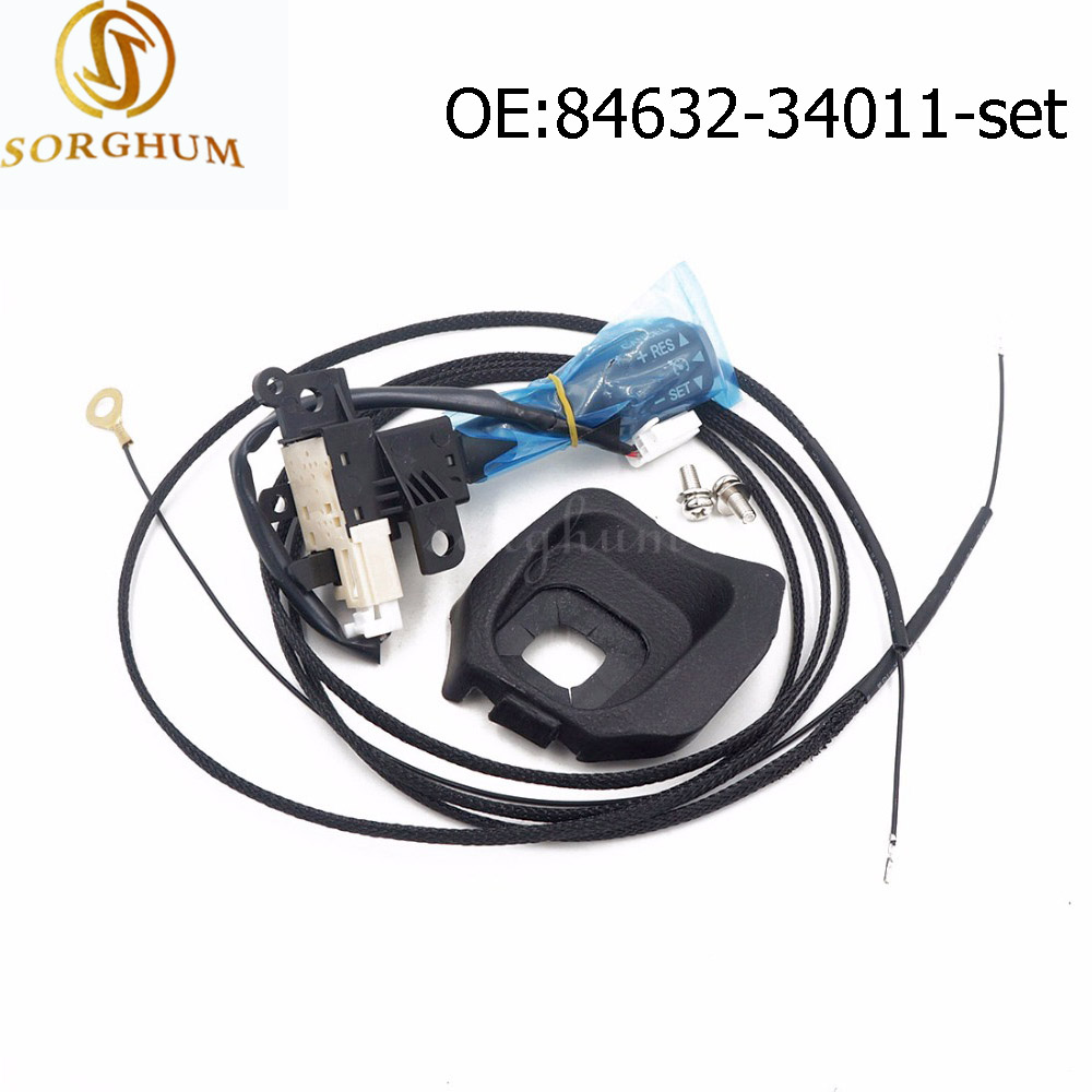 <font><b>84632</b></font>-<font><b>34011</b></font> <font><b>84632</b></font>-34017 Cruise Control Switch For Toyota Camry Corolla Lexus Scion +Wires +Screws 45186-0G030 <font><b>84632</b></font>-<font><b>34011</b></font>-FX image
