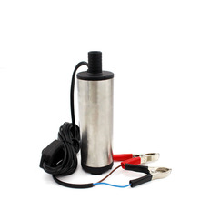 Bomba de Achique eléctrica sumergible de acero inoxidable, 12V, 24V, 30L/min, bomba de aceite diésel, encendedor de transferencia de combustible de agua