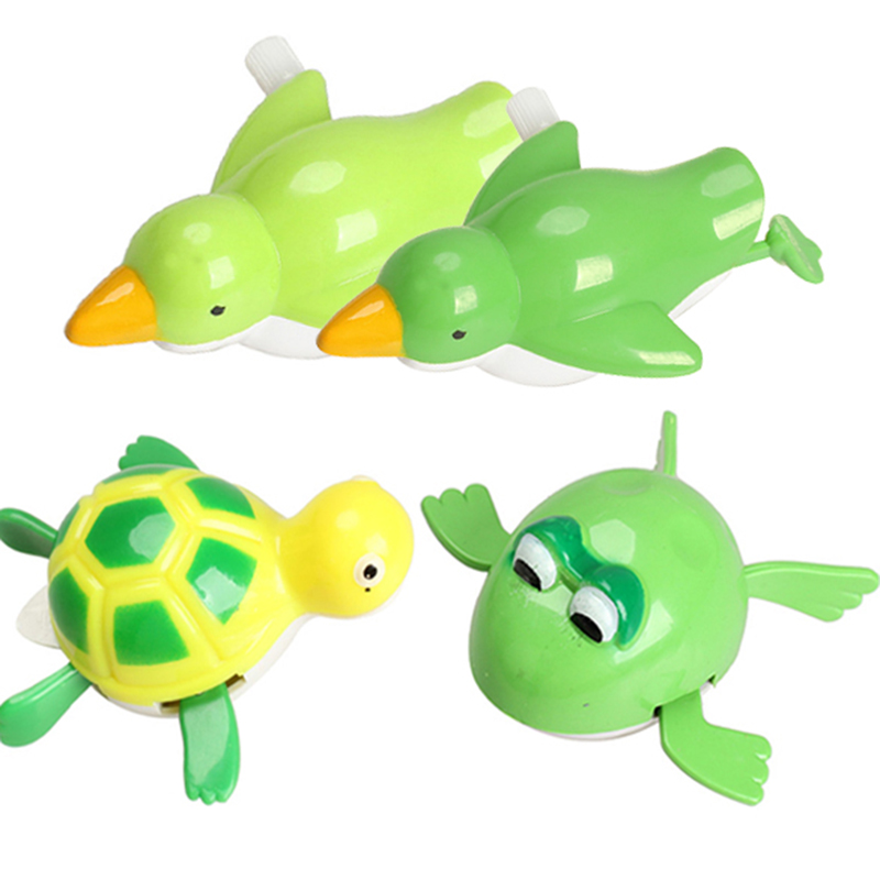 New Baby Kids Wind Up Sea Bird Bath Diver Bath Toy Buzos Swimming Seafowl Baby Kids Bathing Toys Gift Small Animal Toy Bath Toy