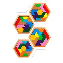 Educational Geometric Wooden Montessori Jigsaw Puzzle