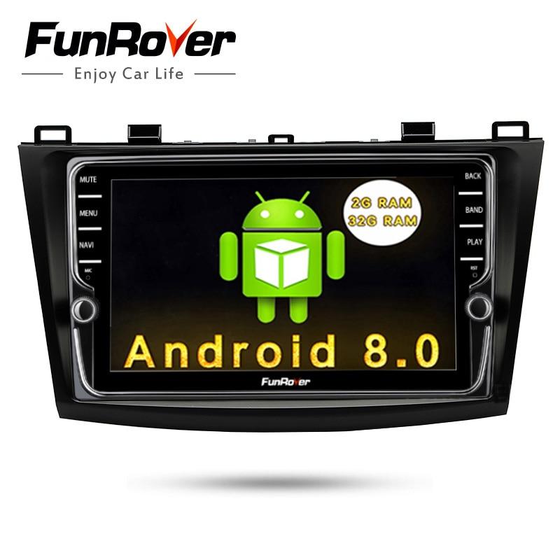 Funrover 2 Din IPS Android 8.0 Lecteur DVD de Voiture Pour Mazda3 Axela 2009-2012 Voiture Multimédia gps navigation De Voiture radio Lecteur 2g 32g