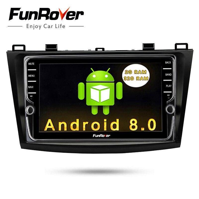 Funrover 2 Din IPS Android 8.0 lecteur dvd De Voiture Pour Mazda3 Axela 2009-2012 Voiture Multimédia navigation gps autoradio Lecteur 2G 32G