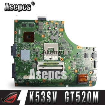 Asepcs K53SV Laptop motherboard for ASUS K53SV K53SC K53S K52F X52N A52F K53 Test original mainboard REV2.1/2.4/3.0/3.1 GT520M