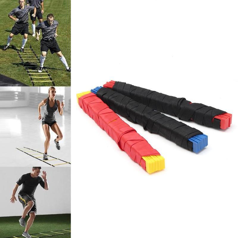 4/5/6m Soft Nylon Straps Training Ladders Agility Speed Ladder Stairs For Soccer/Football Speed Ladder Fitness Equipment