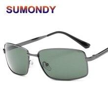 a4974ea4bb SUMONDY Marca Diseño sol polarizadas y caso hombres de gama alta cuadrado  aleación marco aire conducción Sunglass SA07