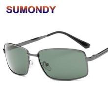 1291692228 SUMONDY Name Brand Design Polarized Sunglasses   Case Men Women High-end  Square Alloy Frame Open Air Driving Sunglass SA07